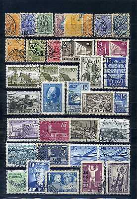 nice lot FINLAND, all postally used