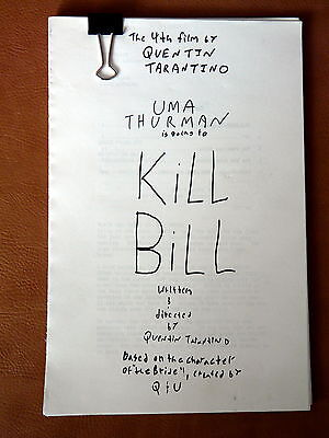 Rare Screenplay Kill Bill Quentin Tarantino- FYC Film/movie script 2003