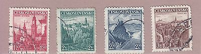 Czechoslovakia 1936 4 Stamps Used