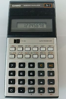 Calculadora CASIO FX 7 Coleccion Rara Rare Calculator Vintage Cientifica