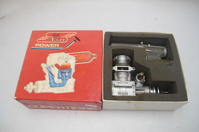 Super Tigre S61 Ring Rc Wm Model Aero Engine + Silencer  Boxed