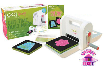55600- New Accuquilt GO! Baby Fabric Cutter Starter Set Comes with 2 Dies Quilt
