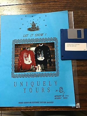 1995 Uniquely Yours LET IT SNOW Pattern w/Disk Brother Knitting Machine