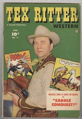 Tex Ritter #11 June 1952 VG Photo cover