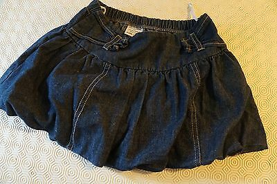 KEEDO light weight denim dark blue puff ball skirt size X-LRG age 7