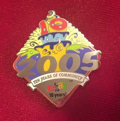 Ebay Live Collectible Pin 2005 COMMUNITY 10 YEARS
