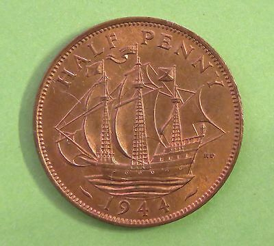1944 - George VI - Half-penny - UNC Uncirculated full lustre  see photo