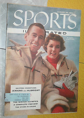 Sports Illustrated Jan 30 1956 Skating Football Baseball hunting fishing vg