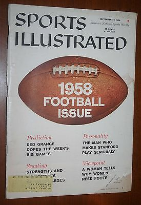 Sports Illustrated Sept 22, 1958 A Preview of FOOTBALL Red Range vg
