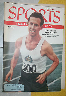 Sports Illustrated May 21,1956 John Landy track Baseball hunting  fishing vg