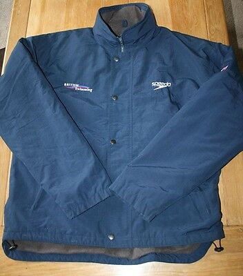 Speedo  GB Large Navy  Fleece lined Jacket with Hood