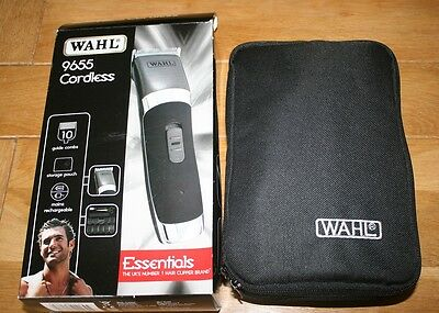 WAHL 9655  Mens Rechargeable Clipper Kit Cord/Cordless Trimmer Set Hair Beard