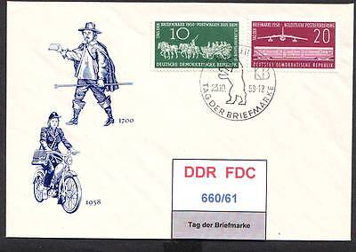 DDR-FDC 660/61, 663/64, gestempelt, s. scan