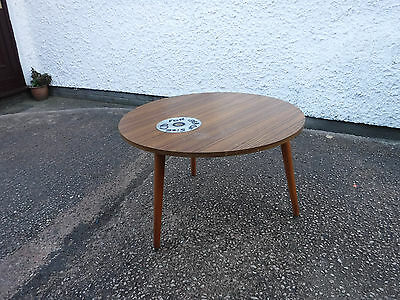 Vintage   Retro  Side / Coffee  Table.  Dansette  Style Legs.  Free  Delivery.