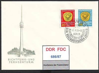 DDR-FDC 686/87, 705/6, gestempelt, s. scan