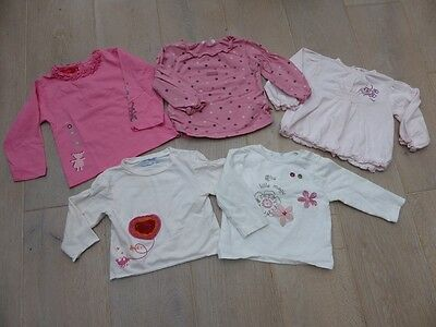 Lot 5 tee-shirt manches longues - 12 mois 1 an fille
