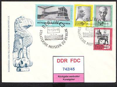 DDR-FDC 742/45, gestempelt, s. scan