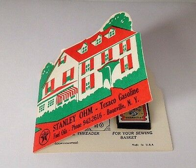Vintage Texaco Sewing Kit Advertising New Old Stock Needles WithThreader