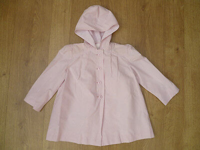 GORGEOUS girl's pink light hooded summer jacket from BHS - size 3 years