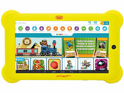 TABLET PC TREVI 0K07C1605 per Bambini Trevi KidTab 7 C16 Android Quad Core Giall