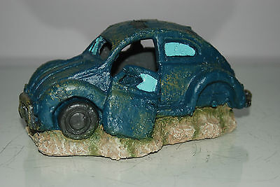 VW Beetle Small Old Rustic Style Car Decoration 18 x 10 x 9 For All Aquariums