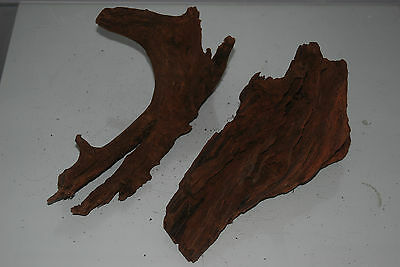 Real Aquarium Bog Wood 2 Medium Pieces Roots Logs Driftwood For Aquariums BWM2