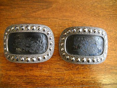 Antique Georgian Cut Steel Shoe Buckles