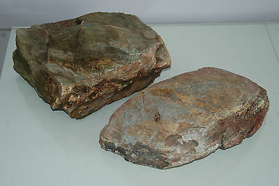 Natural Aquarium Coloured Slate Rock 2x Large Size Pieces for All Aquariums B3A