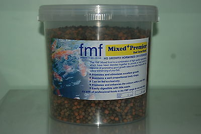 FMF Mixed Premier Koi Carp & Ornamental Pond Fish Food 1 Kilo Bucket size 6mm