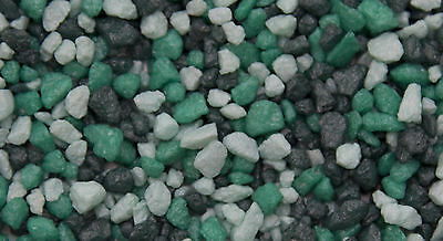 Aquarium Tri Coloured Gravel Turquoise 3 to 6mm Grains 2.5 kg Bag