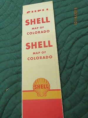 Vintage Map of Colorado - Shell Gas Station - 1940's