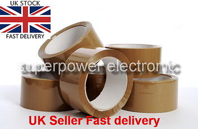 BROWN STRONG Parcel Tape 48mm x 66m sellotape Packaging