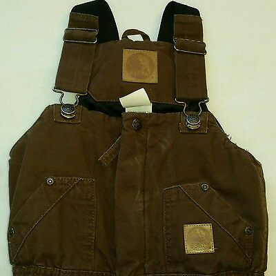 A BERNE APPAREL YOUTH OVERALLS SIZE toddler 4T. heavy duty quilted brown overall