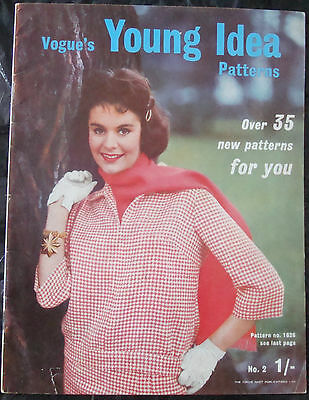 Vintage Vogue's Young Idea Patterns Magazine 1959 57Th Birthday 50S Fashion Lace
