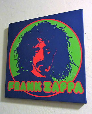 Frank Zappa canvas Giclee wall hanging Art By Dennis Loren