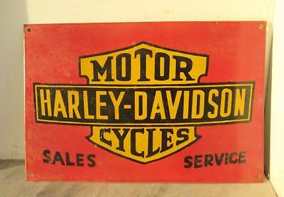 Vintage Old Rare Harley Davidson Motor Cycles Ad Porcelain Enamel Sign Board