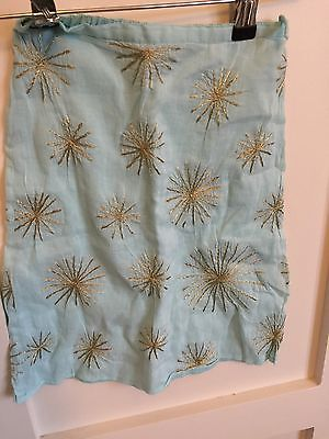 Gorgeous Little Girls French Connection Gold Star Embroidered Skirt Age 2