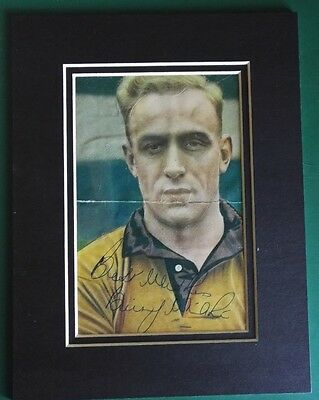Billy Wright - Wolves & England Captain.  Signed Double Mounted 1950's Picture