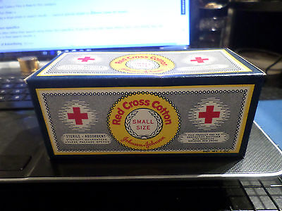 Vintage Sealed NOS 1OZ Red Cross Cotton Box Small Size Medicine Military Nice