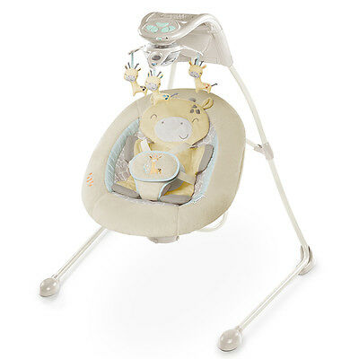 Ingenuity Inlighten Cradling Swing - Cuddle Giraffe - NEW