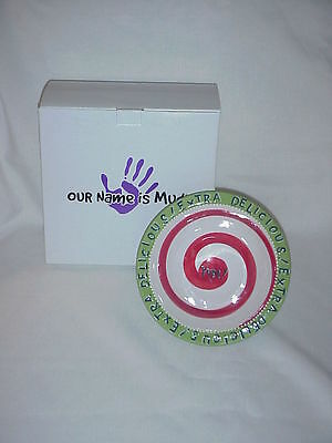 Our Name Is Mud Extra Delicious Yum! Rimmed Bowl # 21500-By Lorrie Veasey-Nib