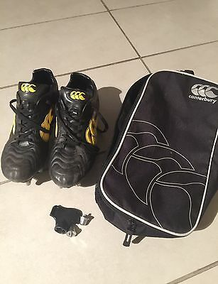 RUGBY BOOTS! Canterbury Phoenix Elite 8 Stud Rugby Boots - Size 9 UK/ 43 EUR