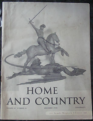 Vintage Home And Country Magazine Dec 1948 68Th Birthday 1940S Emily Bronte