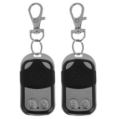 2pcs 433mhz Universal Cloning Remote Control Key Fob for Garage Door Gate HS809