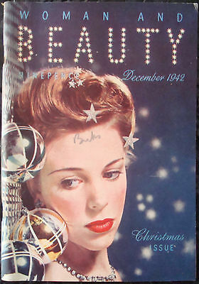Vintage Woman And Beauty Magazine 1942 74Th Birthday Ww2 1940S Models Patterns