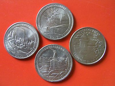 4 state PARKS quarters American coins USA United States coin set #993