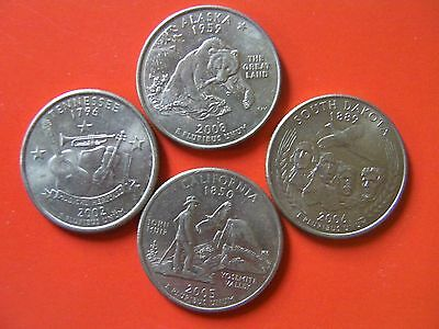 4 state quarters American coins USA  United States coin set #993