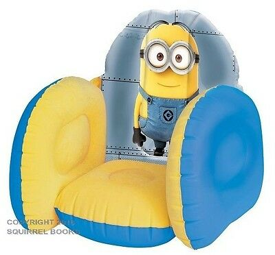 Despicable Me Minion Minions Inflatable Kid's Arm Chair Child Furniture Toys
