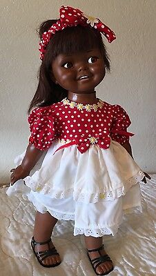 Vintage Ideal Giggles Doll Black African American 1960's