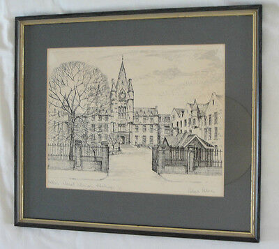 A Limited Edition, Signed Print of the Old Royal Infirmary, Edinburgh.